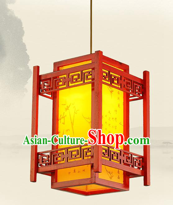 Traditional Chinese Handmade Carving Lantern Classical Palace Lantern China Ceiling Palace Lamp