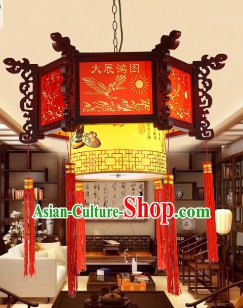Traditional Chinese Handmade Wood Lantern Classical Palace Lantern China Ceiling Palace Lamp