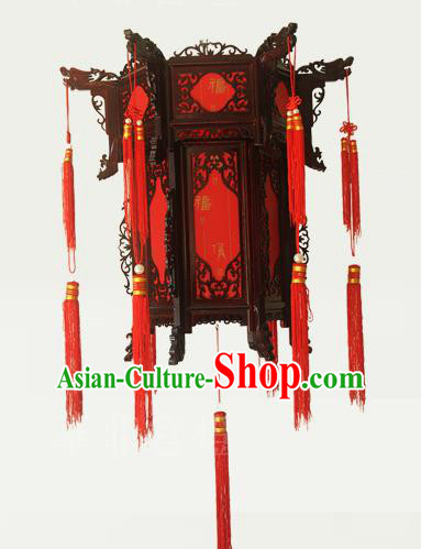 Traditional Chinese Handmade Sheepskin Lantern Classical Palace Lantern China Wood Carving Ceiling Palace Lamp