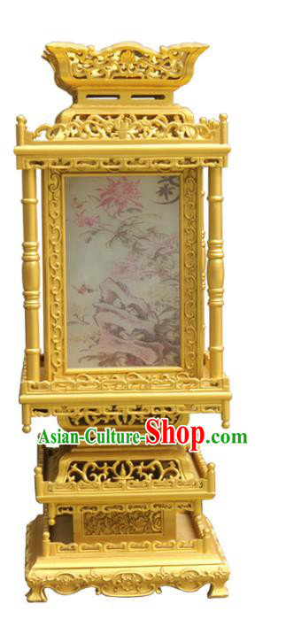 Traditional Chinese Handmade Gold-plating Lantern Classical Dragons Palace Lantern China Floor Palace Lamp