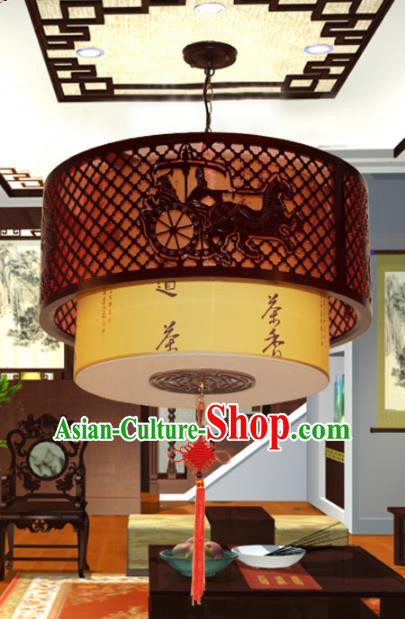 Traditional Chinese Handmade Sheepskin Lantern Classical Palace Lantern China Ceiling Palace Lamp