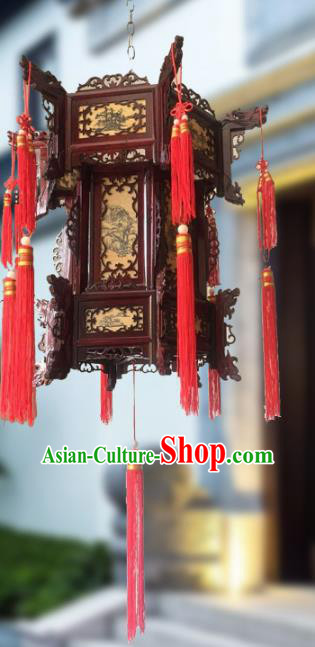Traditional Chinese Handmade Woodcarving Printing Sheepskin Ceiling Lantern Classical Palace Lantern China Palace Lamp