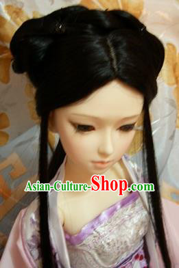 Traditional Handmade Chinese Ancient Palace Lady Hair Accessories Wig for Women