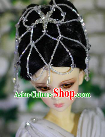 Traditional Handmade Chinese Ancient Han Dynasty Palace Lady Hair Accessories and Wig Sheath for Women