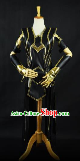 Traditional Chinese Ming Dynasty Swordswoman Costume Ancient Cosplay Heroine Clothing for Women