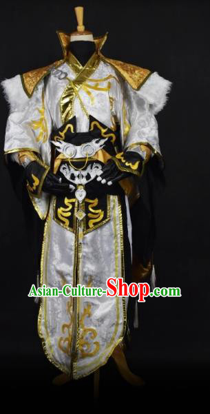 Traditional Chinese Ancient Swordsman Clothing Cosplay Kawaler Costume for Men