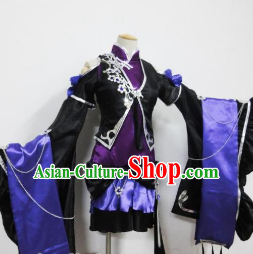 Traditional Chinese Ancient Halloween Cosplay Palace Lady Costume Ming Dynasty Swordsman Clothing for Women