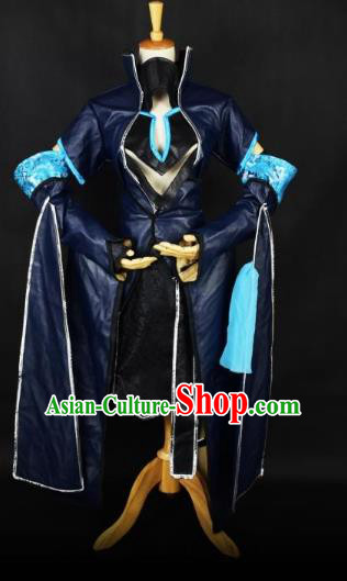 Traditional Chinese Ancient Cosplay Swordsman Clothing Tang Dynasty Young Lady Black Costume for Women