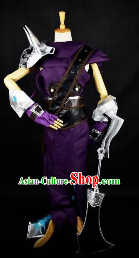 Traditional Chinese Ancient Cosplay Swordswoman Costume Tang Dynasty Heroine Clothing for Women