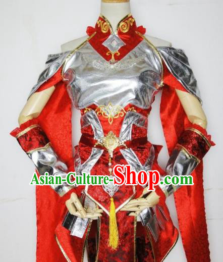 Traditional Chinese Ancient Cosplay Young Lady Costume Ming Dynasty Swordsman Clothing for Women