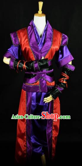 Traditional Chinese Ancient Imperial Bodyguard Costume, China Han Dynasty Swordsman Clothing for Men