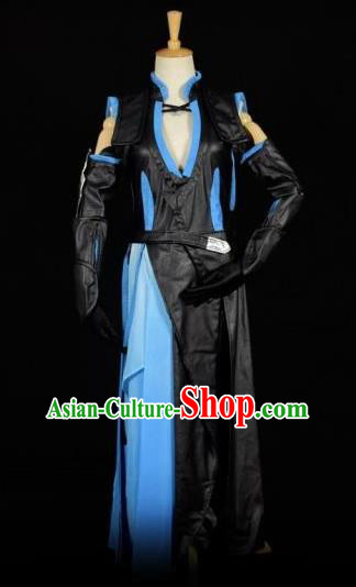 Traditional Chinese Ancient Swordsman Embroidered Costume Tang Dynasty Kawaler Clothing for Men