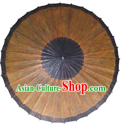 Asian Dance Umbrella China Handmade Classical Oil-paper Umbrellas Stage Performance Brown Umbrella Dance Props