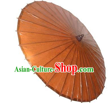Asian Dance Umbrella China Handmade Classical Oil-paper Umbrellas Stage Performance Orange Umbrella Dance Props