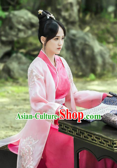 Traditional Chinese Ancient Sui Dynasty Imperial Empress Embroidered Costume for Women