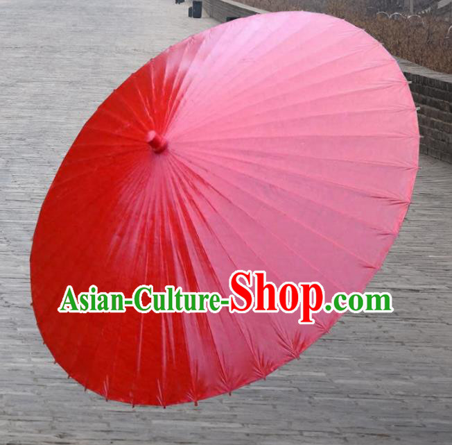 Asian China Dance Handmade Umbrella Red Oil-paper Umbrella Stage Performance Props Umbrellas