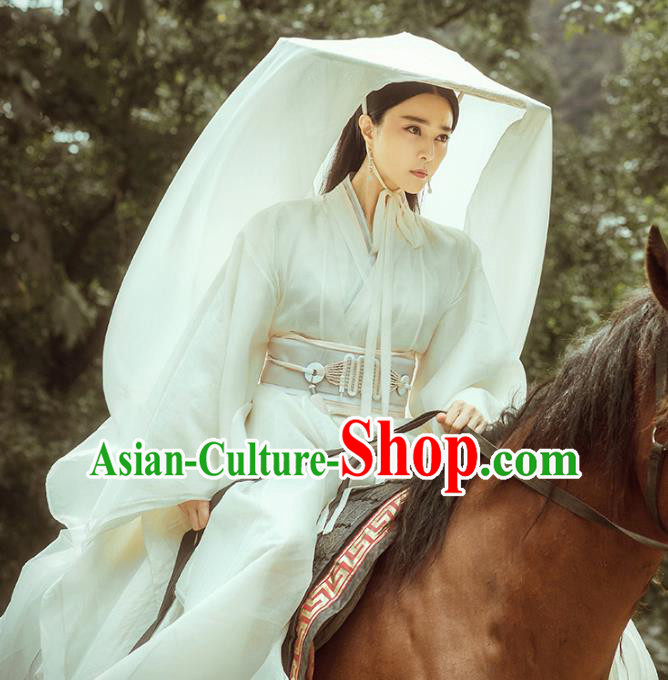 Traditional Chinese Ancient Qin Dynasty Palace Lady Fairy Costume for Women
