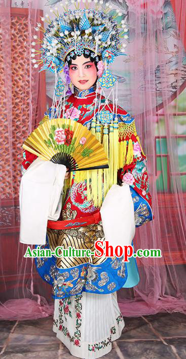Chinese Beijing Opera Diva Imperial Empress Embroidered Costume, China Peking Opera Actress Embroidery Clothing
