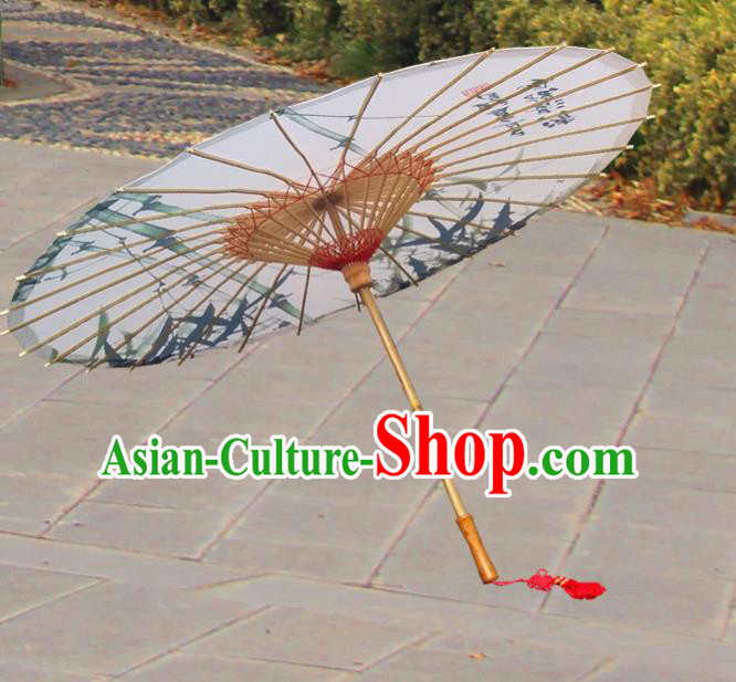 China Traditional Dance Handmade Umbrella Ink Painting Bamboo Oil-paper Umbrella Stage Performance Props Umbrellas