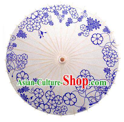 China Traditional Dance Handmade Umbrella Printing Flowers Oil-paper Umbrella Stage Performance Props Umbrellas
