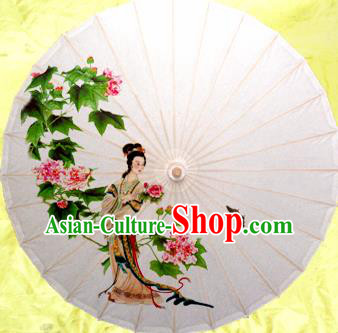 China Traditional Dance Handmade Umbrella Painting Beauty Flowers Oil-paper Umbrella Stage Performance Props Umbrellas