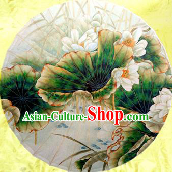 Handmade China Traditional Dance Printing Lotus Umbrella Oil-paper Umbrella Stage Performance Props Umbrellas