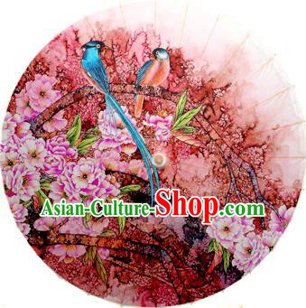 Handmade China Traditional Dance Painting Magpie Umbrella Oil-paper Umbrella Stage Performance Props Umbrellas
