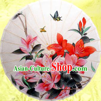 Handmade China Traditional Dance Painting Flowers Butterfly Umbrella Oil-paper Umbrella Stage Performance Props Umbrellas