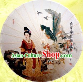 Handmade China Traditional Dance Wedding Umbrella Classical Palace Lady Oil-paper Umbrella Stage Performance Props Umbrellas