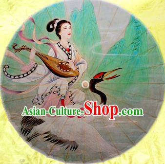 Handmade China Traditional Dance Wedding Umbrella Classical Fairy Crane Oil-paper Umbrella Stage Performance Props Umbrellas