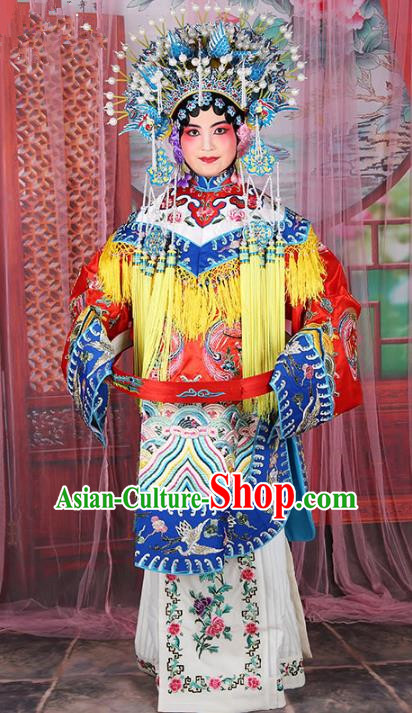 Chinese Beijing Opera Diva Imperial Concubine Embroidered Costume, China Peking Opera Actress Embroidery Clothing