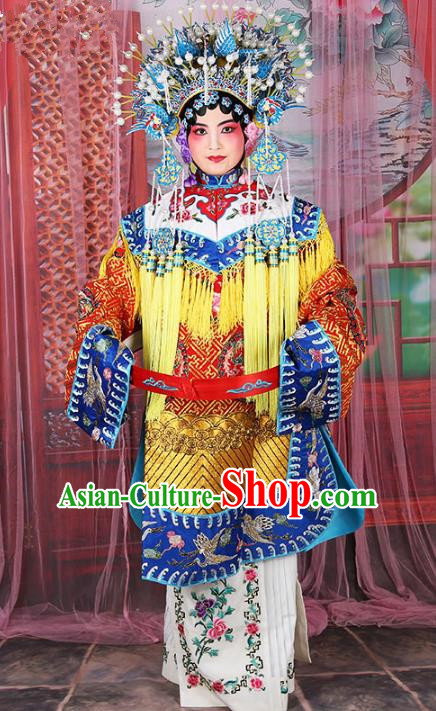 Chinese Beijing Opera Diva Embroidered Costume, China Peking Opera Actress Embroidery Clothing