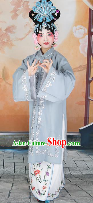 Chinese Beijing Opera Diva Princess Embroidered Costume, China Peking Opera Actress Embroidery Clothing