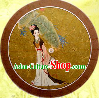 Handmade China Traditional Folk Dance Umbrella Painting Lin Daiyu Oil-paper Umbrella Stage Performance Props Umbrellas
