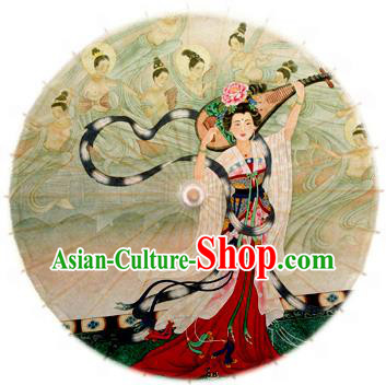 Handmade China Traditional Folk Dance Umbrella Printing Fairy Oil-paper Umbrella Stage Performance Props Umbrellas