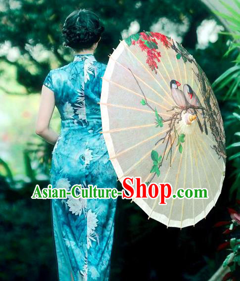 China Traditional Folk Dance Umbrella Hand Painting Oil-paper Umbrella Stage Performance Props Umbrellas