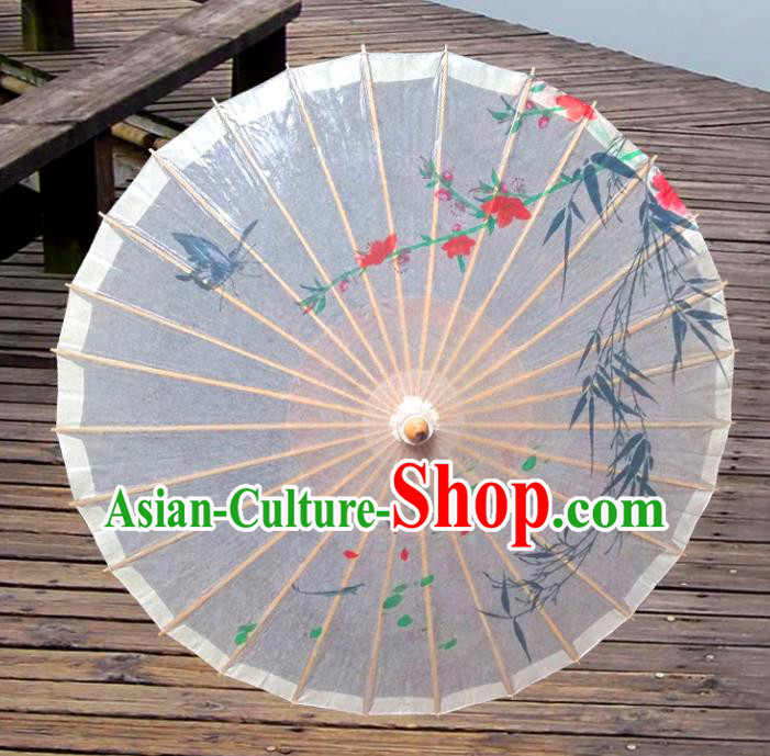 Handmade China Traditional Folk Dance Umbrella Printing Bamboo Oil-paper Umbrella Stage Performance Props Umbrellas