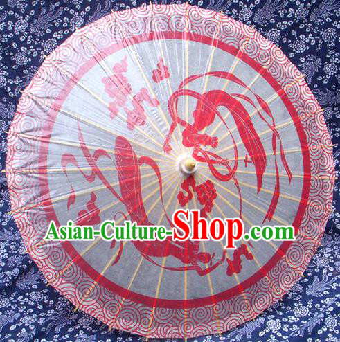 Handmade China Traditional Folk Dance Umbrella Stage Performance Props Umbrellas Printing Flying Apsara Oil-paper Umbrella