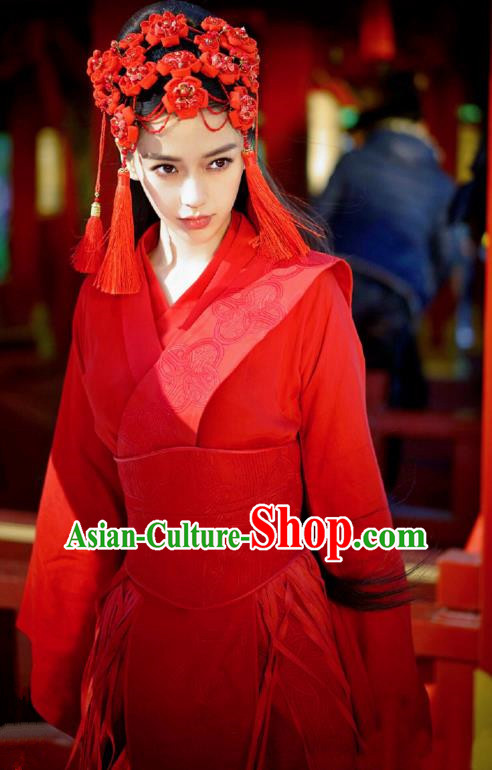 Traditional Chinese Ancient Song Dynasty Royal Princess Wedding Embroidered Dress Clothing for Women