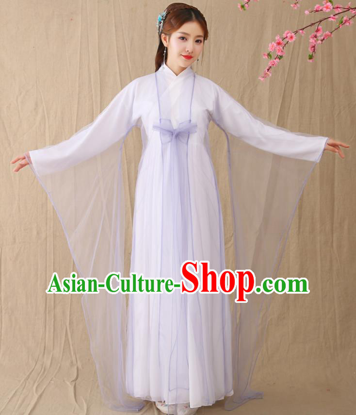 Traditional Chinese Han Dynasty Palace Princess Costume, China Ancient Fairy Hanfu Dress Clothing for Women