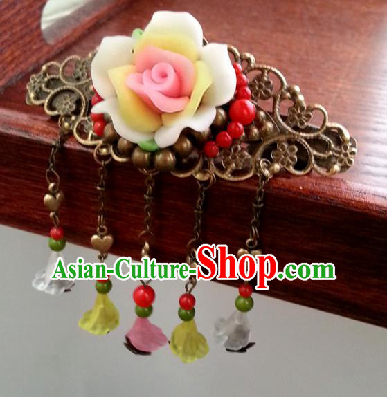 Traditional Handmade Chinese Ancient Classical Hair Accessories Tassel Step Shake Palace Princess Hairpins for Women