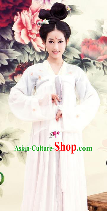 Asian Chinese Ancient Tang Dynasty Palace Princess Clothing and Headpiece Complete Set