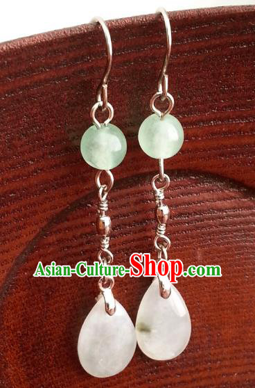 Traditional Chinese Handmade Classical Hanfu Eardrop Ancient Palace Princess Earrings for Women