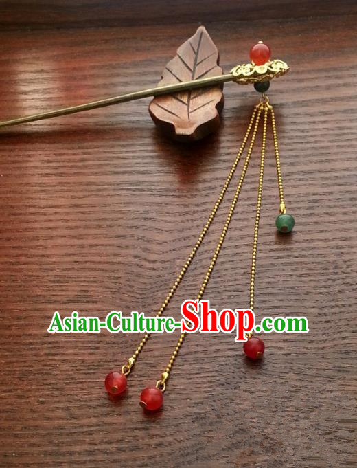 Handmade Traditional Chinese Classical Hair Accessories Tassel Step Shake Ancient Hanfu Hairpins for Women
