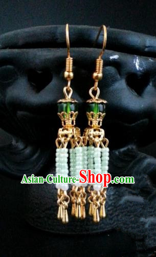 Asian Chinese Traditional Handmade Jewelry Accessories Princess Tassel Eardrop Hanfu Classical Earrings for Women