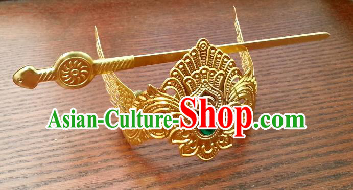 Traditional Handmade Chinese Classical Hair Accessories Hairdo Crown Ancient Prince Hairpins for Men
