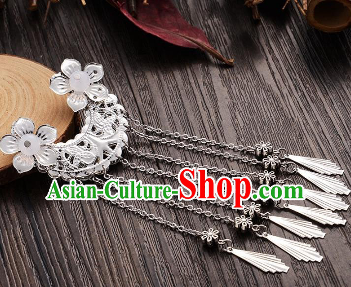 Handmade Asian Chinese Classical Hair Accessories Hairpins Hanfu Tassel Hair Stick for Women