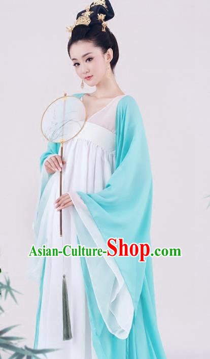 Traditional Chinese Tang Dynasty Consort Yang Costume, China Ancient Palace Lady Clothing and Headpiece Complete Set