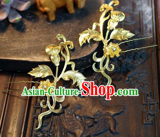 Chinese Handmade Classical Hairpins Hair Accessories Ancient Bride Hair Clips for Women