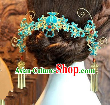 Chinese Handmade Classical Hairpins Hair Accessories Ancient Bride Step Shake Complete Set for Women